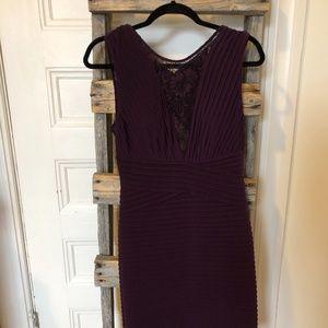 CALVIN KLEIN Purple Lace Cocktail Dress